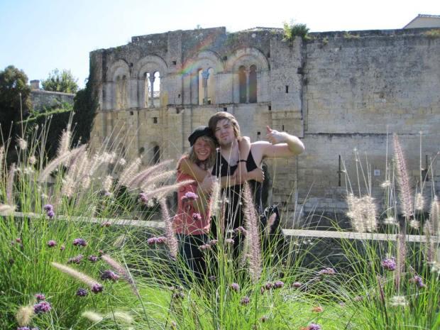 Lidiya and Liam in Saint Émillion