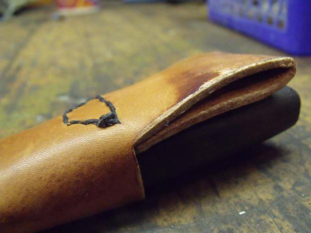 A leather sheath I made