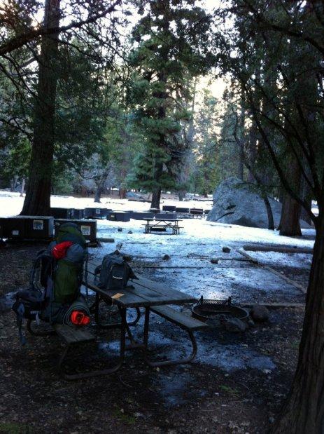 My bag at Camp 4, Yosemite
