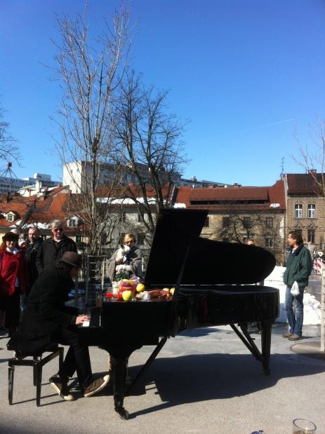 Busker in Ljubljana
