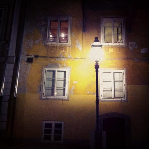 Ljubljana street at night